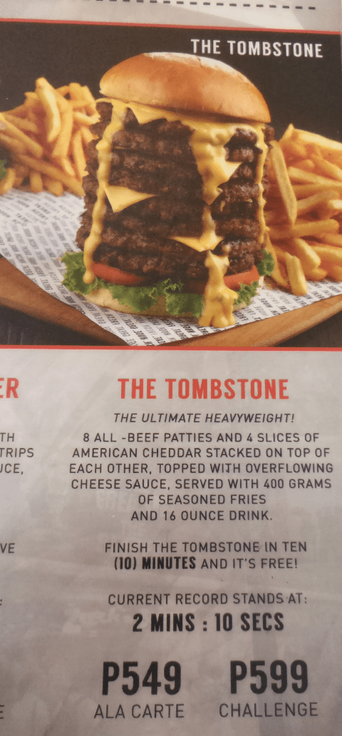The Tombstone Hamburger Stack challenge