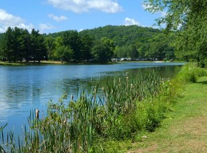 One of the larger lakes in the campground