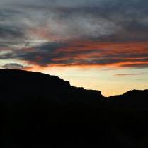 Evening Sunset over the Canyon
