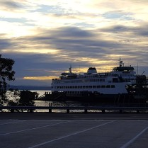 Early morning ferry from Kingston to Edmonds WA