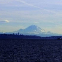 View of Mt Rainier from the ferry