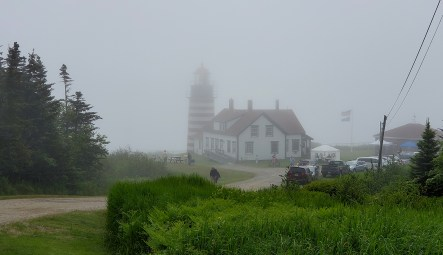 Foggy bike ride to Lighthouse