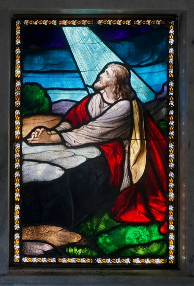 Beautiful stain glass in tomb