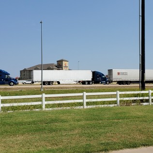 Trucks, Trucks, and More Trucks on I40 right out our door