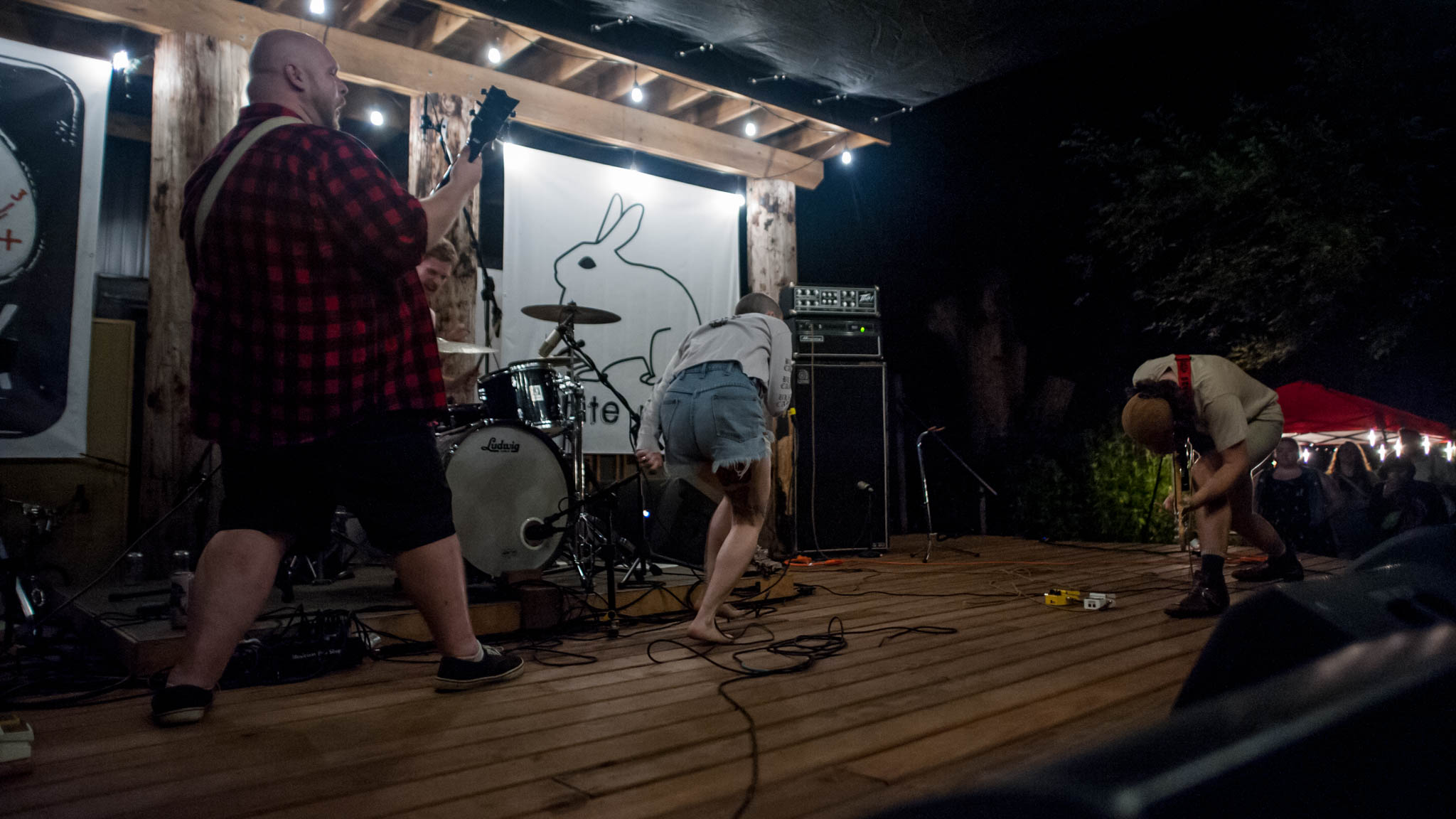 Closet Witch playing at Grey Area 2018 at Flat Black Studios near Iowa City