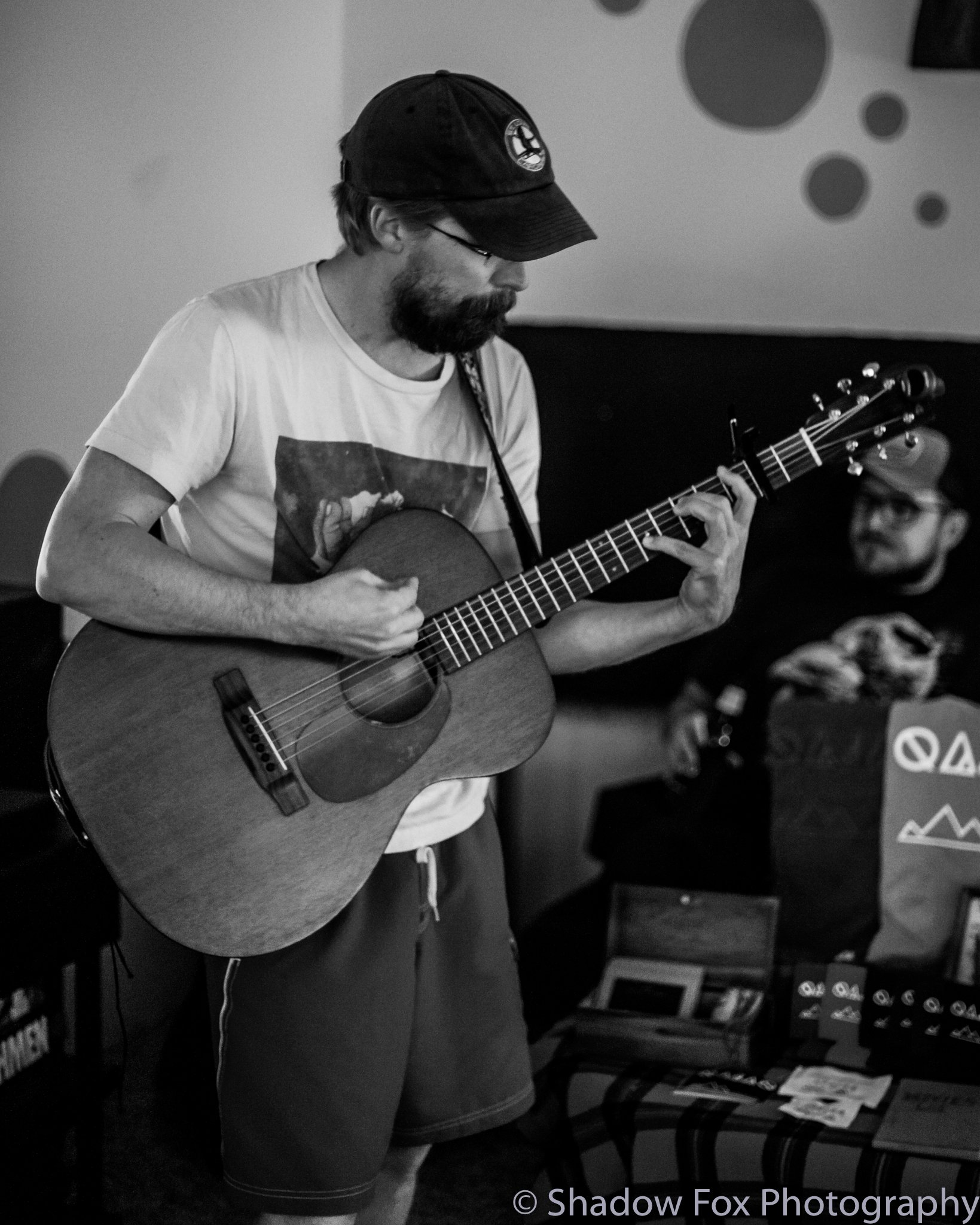 Kevin Schlereth playing the first show we booked at our new house