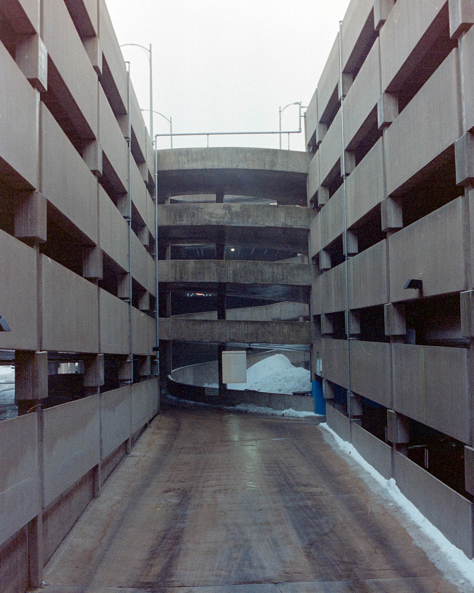 Parking ramp in downtown CR. Camera: Nikon N2020 with Fujifilm Superia 400