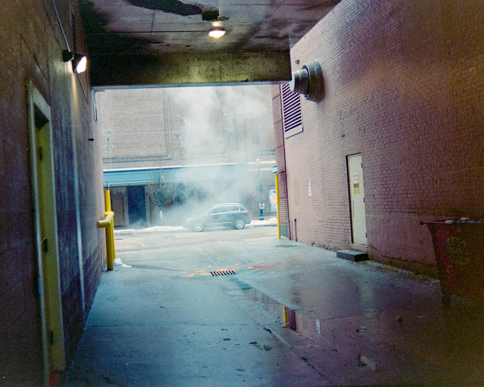 Downtown CR alley. Camera: Nikon N2020 with Fujifilm Superia 400