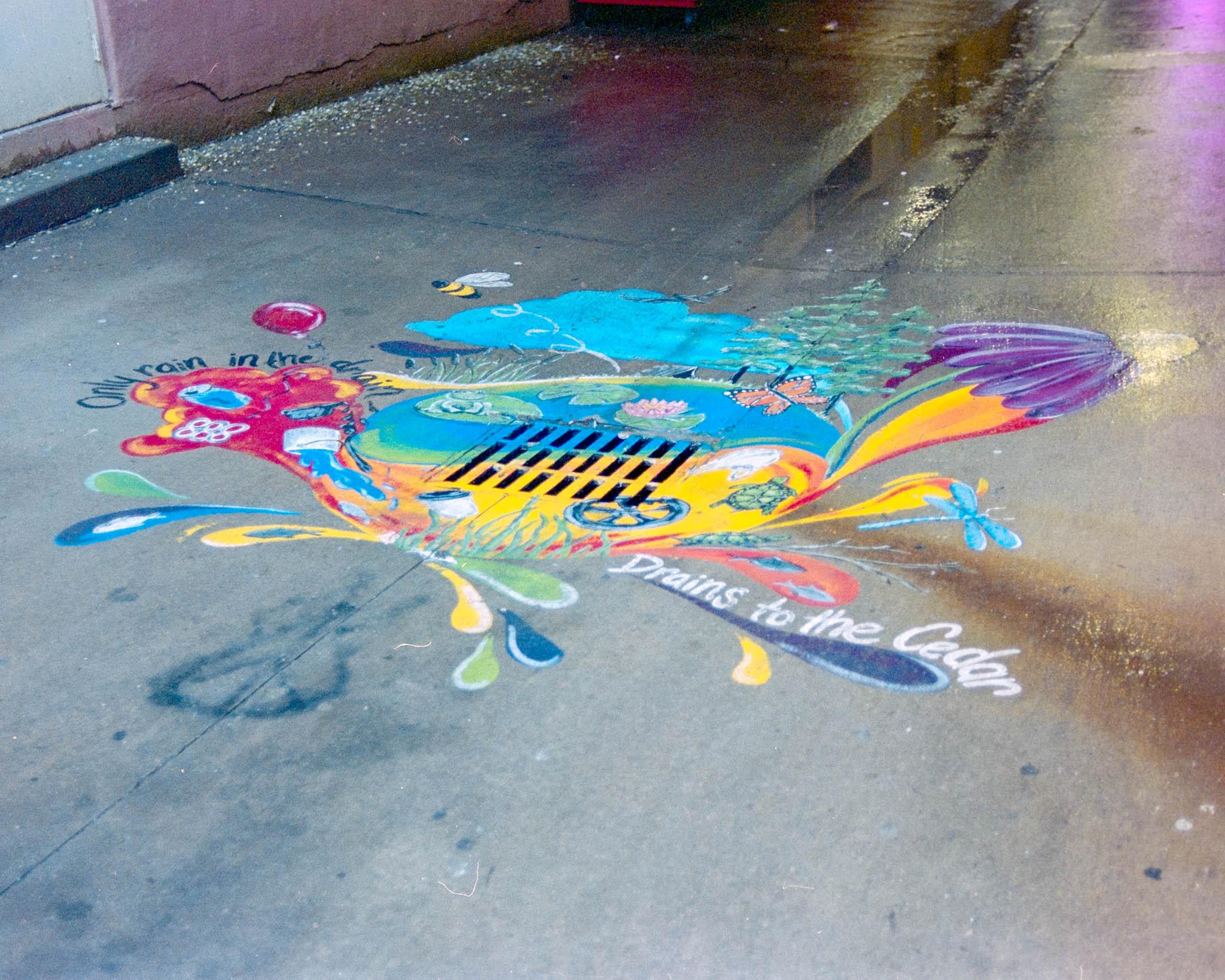 Alley artwork in downtown Cedar Rapids. Camera: Nikon N2020 with Fujifilm Superia 400