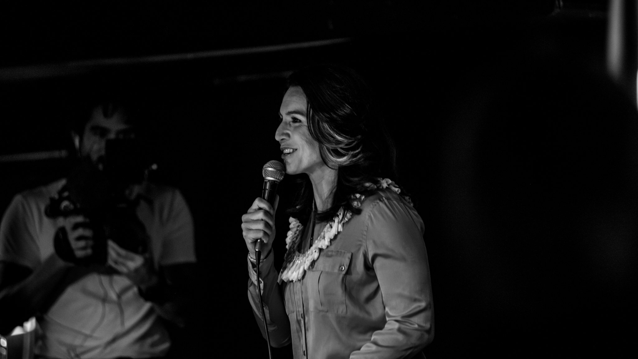 Tulsi Gabbard speaking at The Mill in Iowa City