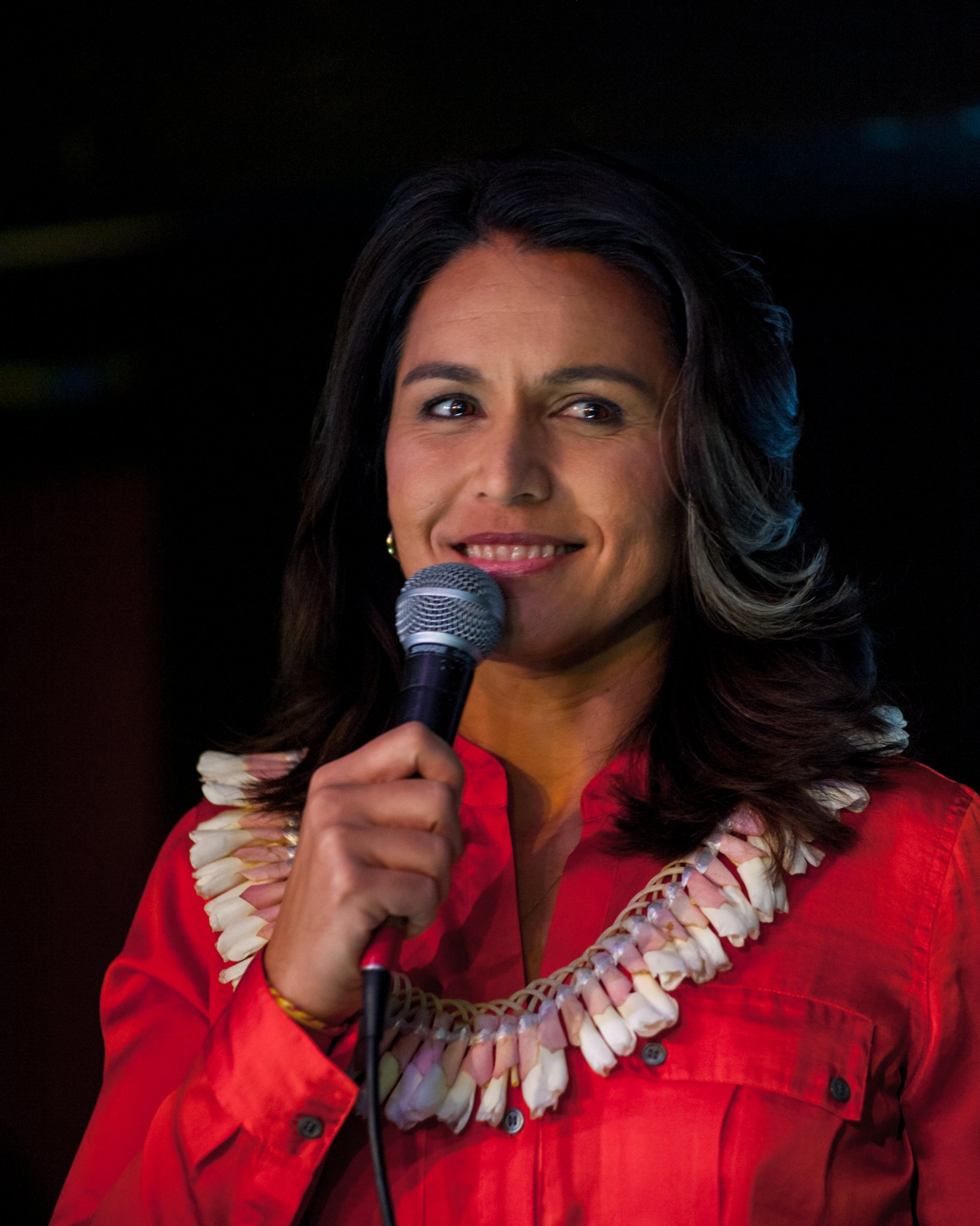 Tulsi Gabbard's campaign stop at The Mill in Iowa City