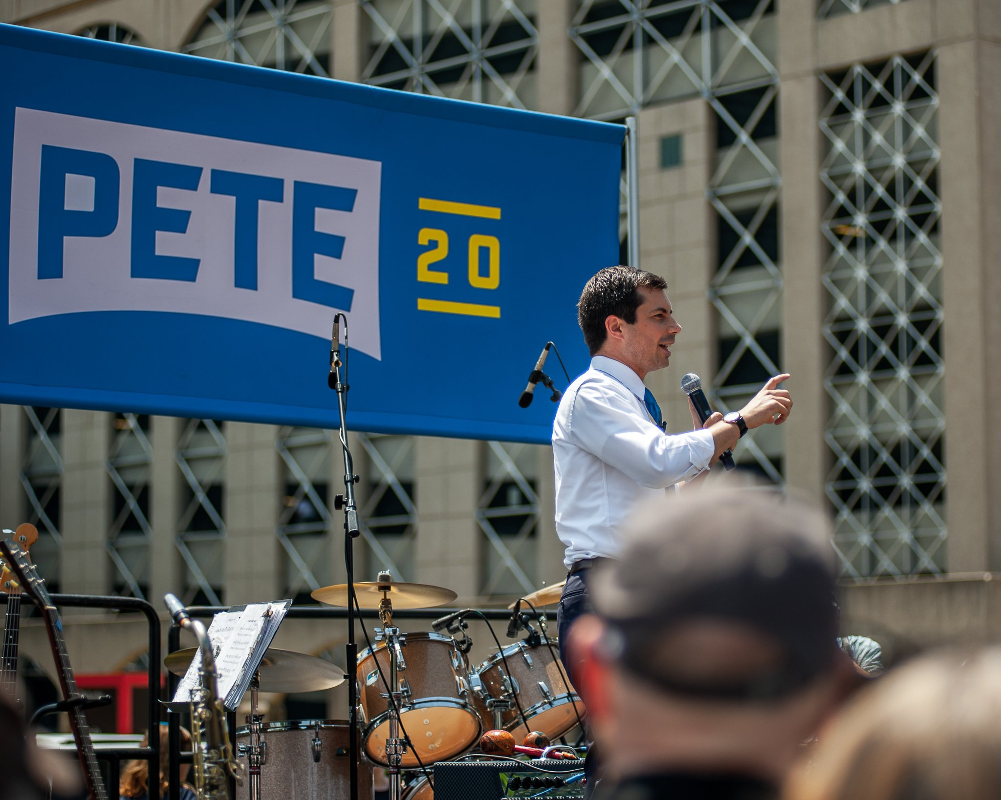 Presidential candidate Pete Buttigieg at a campaign stop in Cedar Rapids, Iowa