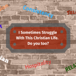 I Sometimes Struggle With This Christian Life.  Do You Too?