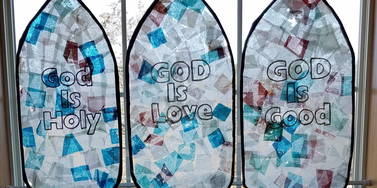 The Attributes of God: Tissue Paper Stained Glass Window Craft Project