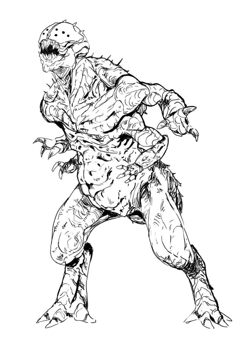 Un ejemplar de trácnido. Ilustración de Marlock