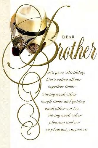 Verses Brother Birthday Card