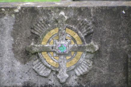 Another one from Streatham Cemetery on 2013 visit. A subtle golden enhancement of the memorial. ©Carole Tyrrell