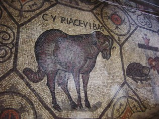 Animal from Aquileia mosaic floor. ©Giovanni Dall'Orto Shared under Wiki Creative Commons