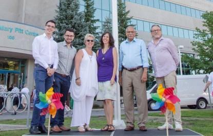 Pride Week Flag Raising with OPH 2016