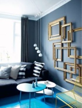 Blue color for living room