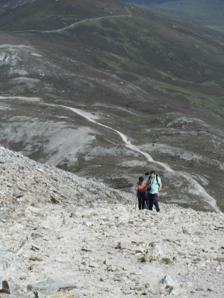 Climbing Croagh Patrick.