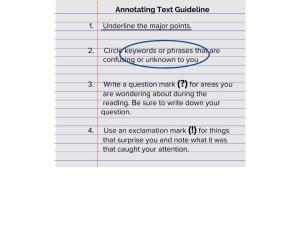 Annotating Text Guide