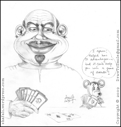 Man and Mouse Play Cards