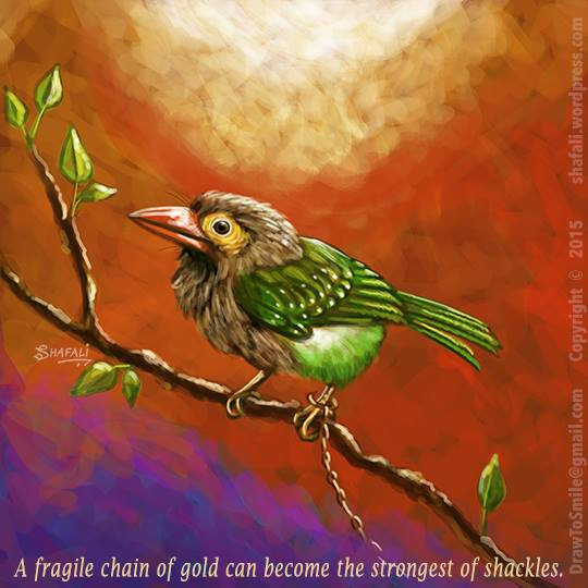 What is Free Will? Is it real or is it an illusion? A bird and a chain of gold.