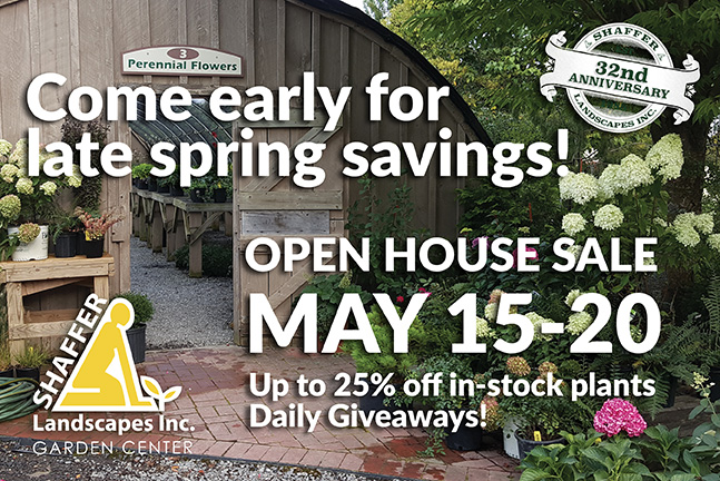 Open House Sale! May 15 –  20th