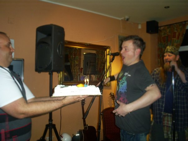ME.. Blowin my cake across the pub!!!