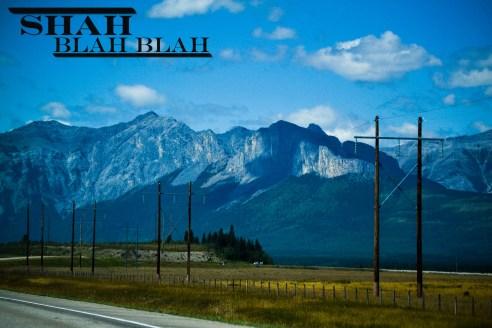 Entering the Banff National Park