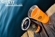 Drinks on the dock on Lake Mendota