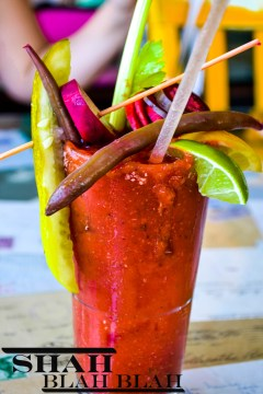 Wouldn't be brunch without a Wisco bloody mary. Garnish big or go home.