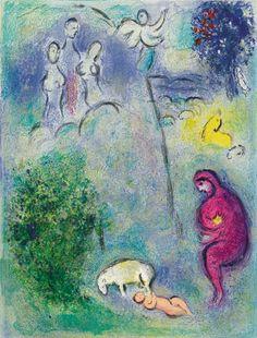 Driante scopre cloe, Chagall, illustrazioni per le Mille e una notte