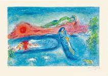 La morte di Dorcone, Chagall, illustrazioni per le Mille e una notte