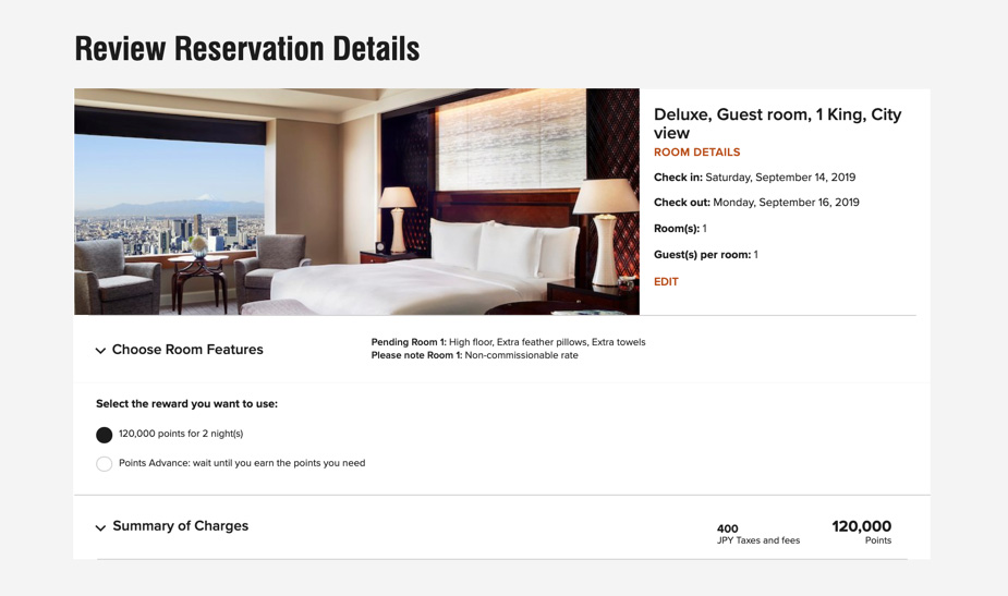 Last day to book Marriott Bonvoy Category 7 hotels - The Ritz-Carlton Tokyo in points