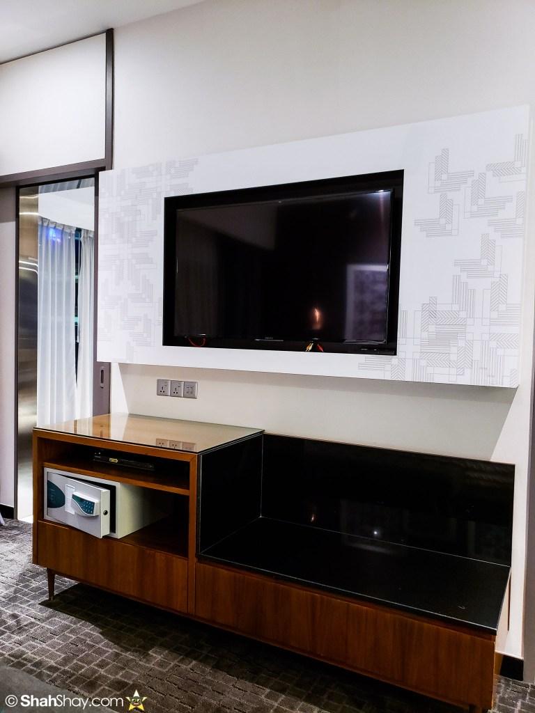 Le Méridien Suite Review at The Le Méridien Kuala Lumpur - bedroom tv