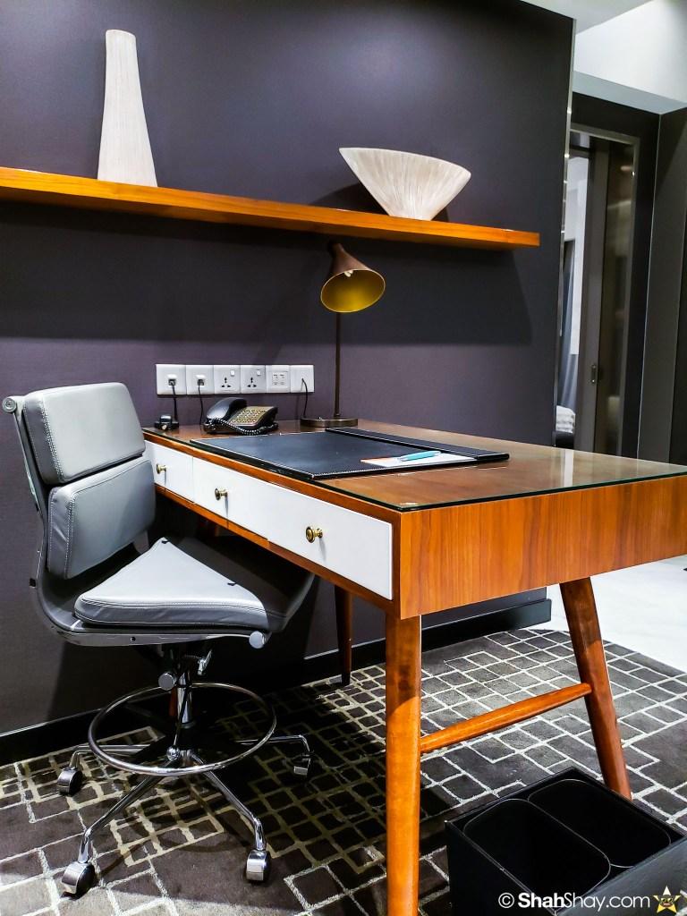 Le Méridien Suite Review at The Le Méridien Kuala Lumpur - writing desk