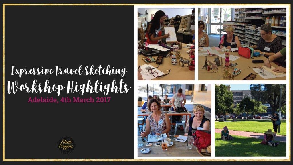 Expressive Travel Sketching Adelaide - Workshop Highlights