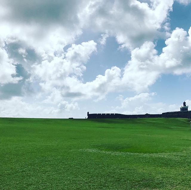 #fort #greenery #clouds #sky