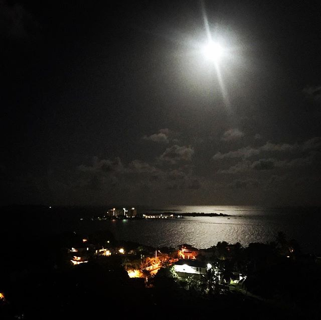 #moonlight #night #sky #sea #caribbean #lights