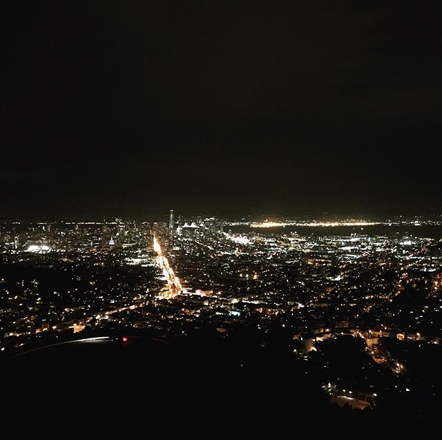The San Francisco skyline! #nightview #lights #sparklinglife