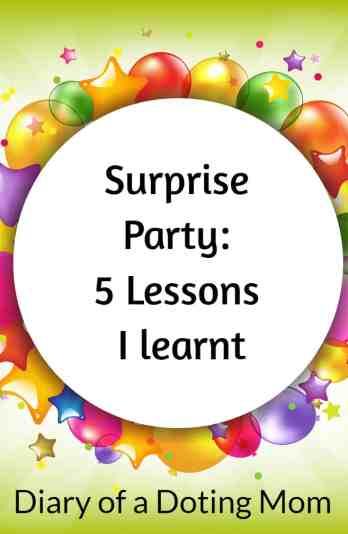 Surprise Party 5 Lessons
