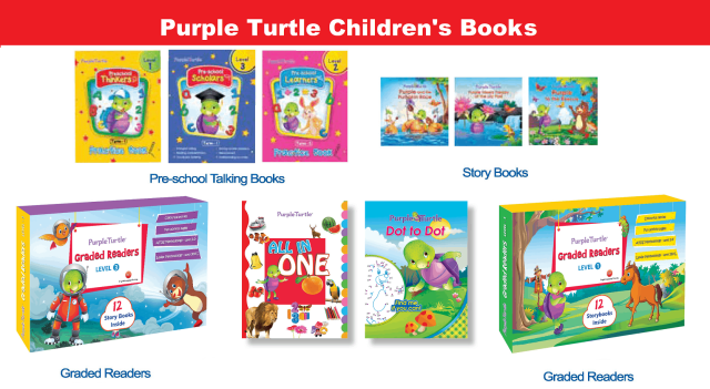 Purple Turtle Children's Books for early readers