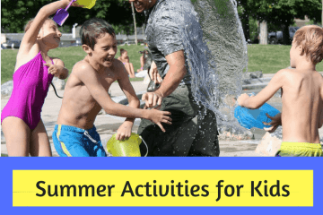 Summer Activities for Kids. Kids playing with water on a summer Afternoon