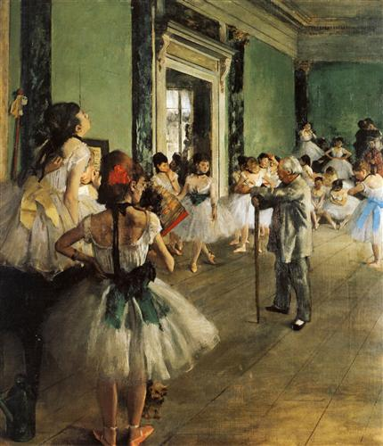 Edgar Degas - The Ballet Class - shairart.com - Famous Artworks