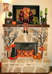 Fall Mantel Decoration Ideas #falldecoration #falldecoridea #fallmateldecoration #fireplacemanteldecor #fireplacedecor #DIYdecor #diyhomedecor
