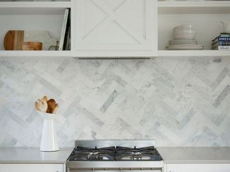 Herringbone Kitchen Backsplash for DIY decor Part 25