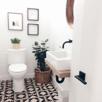 70+ Tiles Ideas for Small Bathroom - Get more Ideas in our gallery | #smallbathroom #bathroomdecoration #bathroomideas #bathroomtiles #bathroomdecor #homedecor (18)