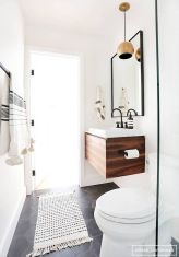 70+ Tiles Ideas for Small Bathroom - Get more Ideas in our gallery | #smallbathroom #bathroomdecoration #bathroomideas #bathroomtiles #bathroomdecor #homedecor (38)